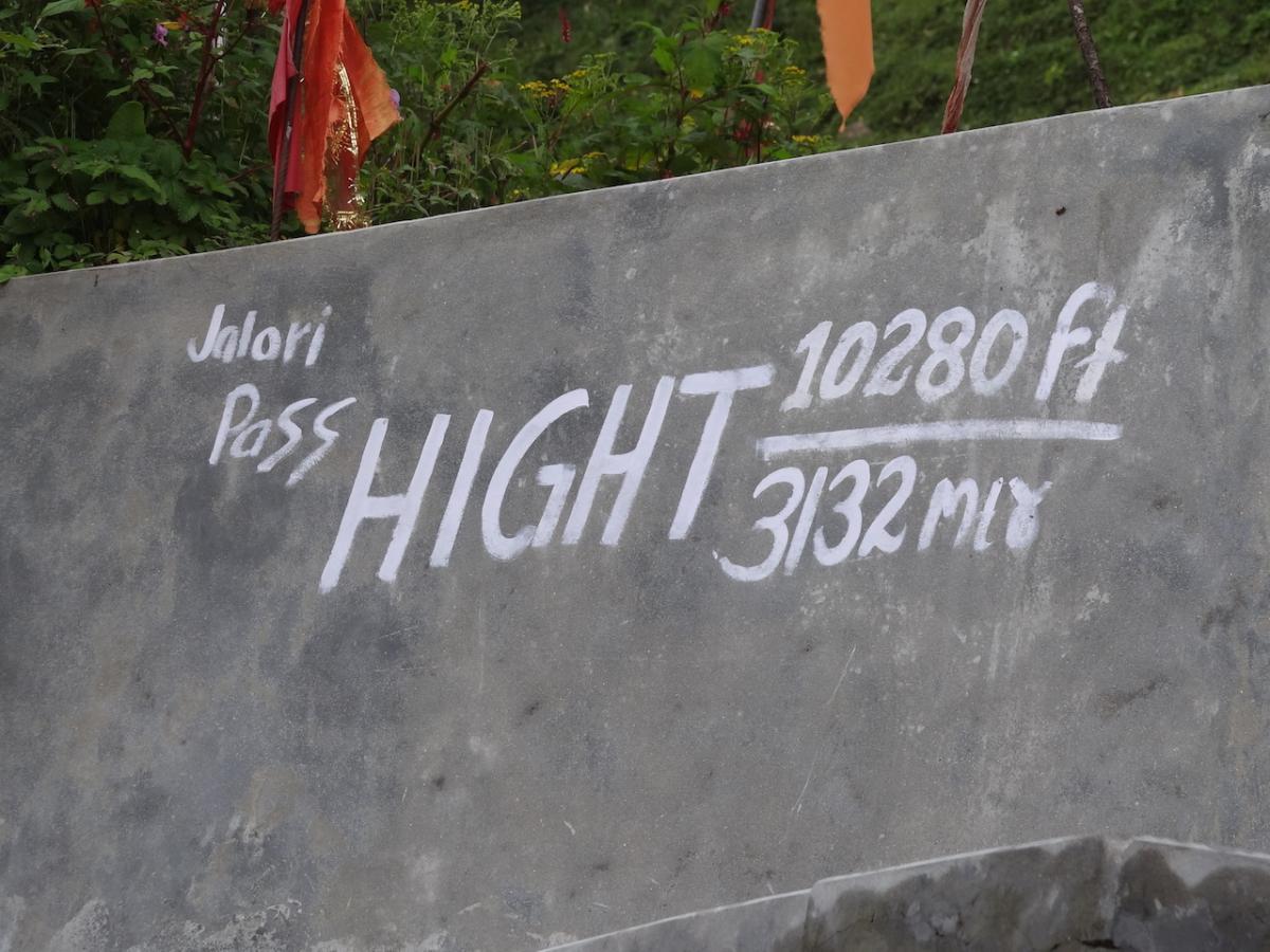 Przełęcz Jalori - 3132 m n.p.m.
